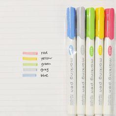 ダイソー『マーキングペン』 5本で100円 ダイソーの新商品、5本セットで100円の『マーキングペン』が人気沸騰中なんですよ。優しいコントラストで、書きやすさも抜群。資格勉強やスケジュールなどに活用する人が増えています。