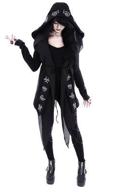 Gothique steampunk Emo capuche bout veste Hoodie restyle 40 42 44 46 m l xl xxl