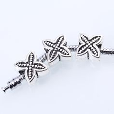 Charms Antique Silver Flowers Fits Pandora Flowers for 30pcs/lot 16 Beads