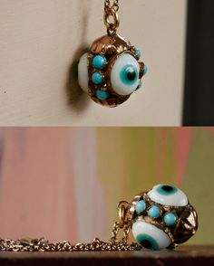 c1890 Evil Eye Pendant Necklace (in the online store)