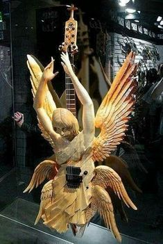 Carved Wooden Guitar....