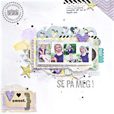 #papercraft #scrapbook #layout  Christin Gronnslett  for Pink Paislee  Four or more: Four in a row