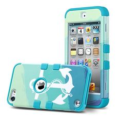 Amazon.com: ULAK Hybrid Hard Pattern with Silicon Case Cover for Apple iPod Touch 5 Generation with Screen Protector and Stylus (Anchor of Sea/Blue): Cell Phones & Accessories