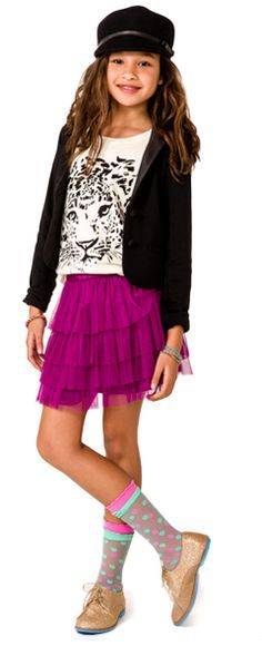 Cute Outfits With Leggings, Cute Outfits For School, Cute Outfits For Kids, Outfits For Teens, Preteen Fashion, Kids Fashion, Fashion Ideas, Junior Girls Clothing, Kids Clothing