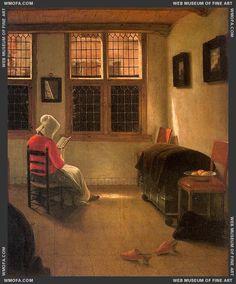 "Woman reading - Pieter Janssens Elinga (story 2 from ""Girl Reading"")"