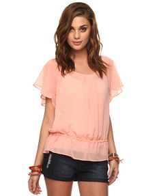 Essential Sheer Blouse, $9.80 from Forever21