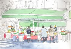 Urban Sketchers: A week in Provence...sketching in the cracks of family life