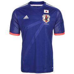 Adidas Performance Japan Trikot Home WM 2014 Herren im Online Shop von Ackermann Versand #WM2014 Adidas Performance, Logos, Sports, Mens Tops, T Shirt, Fashion, Football Soccer, Hs Sports, Supreme T Shirt
