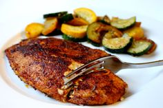 10-Minute Blackened Tilapia.   Tried last night. Delicious. 450 degrees if not a convection oven.