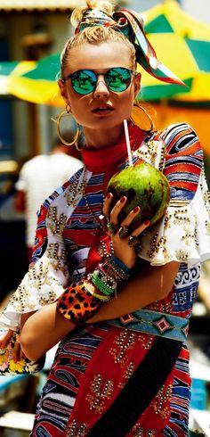 Magdalena Frackowiak for Vogue / High Fashion / Ethnic & Oriental / Carpet & Kilim & Tiles & Prints & Embroidery Inspiration /