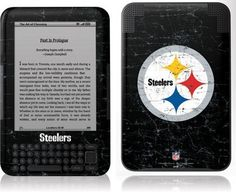 Skinit Pittsburgh Steelers Distressed Vinyl Skin for Amazon Kindle 3 by Skinit. $19.99. IMPORTANT: Skinit skins, stickers, decals are NOT A CASE. Our skins are VINYL SKINS that allow you to personalize and protect your device with form-fitting skins. Our adhesive backing can be applied and removed with no residue, no mess and no fuss. Skinit skins are engineered specific to each device to take into account buttons, indicator lights, speakers, unique curvature an...
