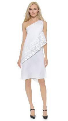 Zero + Maria Cornejo Block Lace Spiral Dress