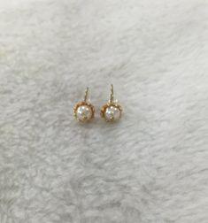 freshwater pearl earrings sterling 14K gold pearl by jewelryTang