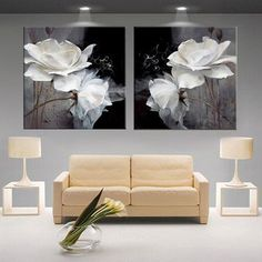 Discover thousands of images about Modern white lotus definition pictures canvas Home Decoration living room Wall modular painting Print (no frame) Living Room Canvas Painting, Canvas Wall Decor, Canvas Art Prints, Painting Prints, Spray Painting, Paintings, Canvas Home, Canvas Canvas, Flower Canvas