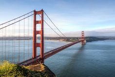 Take a tour of Golden Gate Bridge at Sunset in San Francisco, United States -- part of the World's Greatest Attractions travel video series by GeoBeats. Medical Marijuana, Visiter San Francisco, Puente Golden Gate, Travel English, Beach At Night, Palace Of Fine Arts, San Francisco Travel, Unique Buildings, Tours