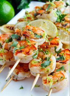 Marinated Grilled Shrimp   Food Recipes