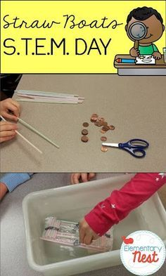 WATER PIPES- New science activity for kids using STEM (Science Technology Engineering and Math education)- science activity for elementary students that requires students in explore how to build a boat out of straw and seran wrap Science Activities For Kids, Stem Science, Science Experiments Kids, Stem Activities, Teaching Science, Physical Science, Science Ideas, Educational Activities, Science Resources