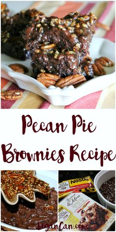 Easy Dessert Recipe - Pecan Pie Brownies #ad #mixinmoments