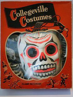 Vintage Skelleton Halloween costume in original packaging
