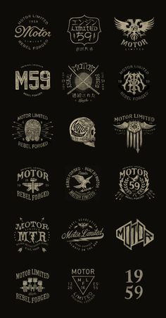 Bike vector design behance New Ideas Logo Inspiration, Typographie Inspiration, Bike Logo, Motorcycle Logo, Motorcycle Camping, Typography Logo, Lettering, Typography Design, Motocross Logo