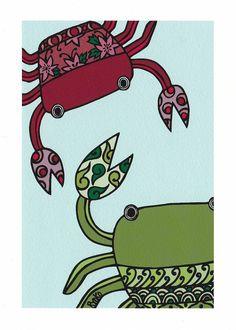 kids room print Nursery print Crab illustration by RyokoRainbow