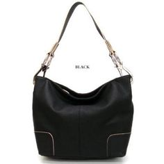 """Simple Classic Everyday Hobo/Handbag   """"Love this bag! The color is a beautiful turquoise blue, I've had loads of compliments on this bag. It doesn't slide off your shoulder even on slippery jackets such as a raincoat""""- R. Shaw (Northern Illinois)  http://amzn.to/H7ZfP9"""