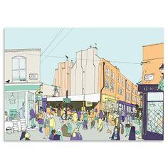 Jack Noel - Islington, Limited Edition Print, 60 x 42cm