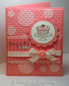 Stampin' Everything!: Pink and Polka Dots  Stampin' Up!