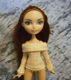 Orange stripe off the shoulder sweater for monster by moonsight68, $6.50