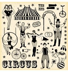 Illustration about Circus set. Illustration of circus stars. Illustration of celebration, icon, character - 68072904 Carnival Tattoo, Circus Tattoo, Vintage Circus Posters, Circus Art, Circus Theme, Circus Room, Cirque Vintage, Circus Aesthetic, Big Top Circus