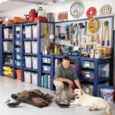 Building wooden garage cabinets is an easy and effective way to improve storage for your home. Explore the tools and steps to building your own garage cabinets. Lockable Storage Cabinet, Pegboard Storage, Garage Storage Shelves, Garage Storage Solutions, Wall Storage, Garage Organization, Bike Storage, Kitchen Storage, Utility Shelves