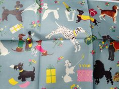 Vintage Gift Wrapping Paper Poodle Beagle by TheGOOSEandTheHOUND, $7.00