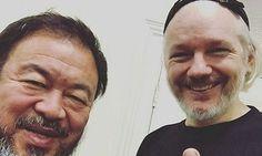 Ai WeiWei and Julian Assange post selfie