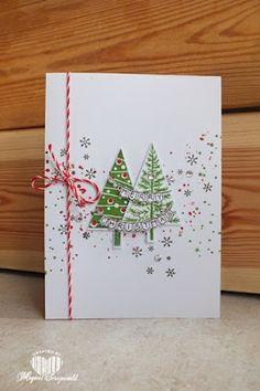 Vandaag twee kaartjes met kerstbomen. Maar wel twee heel andere sets. De eerste is gemaakt met de festival of trees en de andere is gemaak...