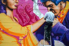 3Steps | Werther Mural | working | arbeiten | künstlerisch | kreativ | Kunst | Art | malen | sprühen | spray | painting | artist | Künstler |