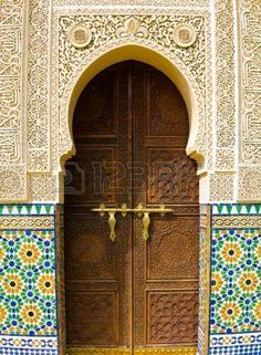 Moroccan architecture traditional design photo