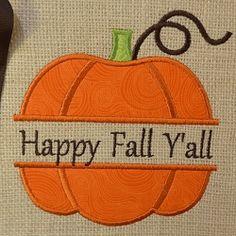 Split Pumpkin Applique - 3 Sizes!   Seasons   Machine Embroidery Designs   SWAKembroidery.com
