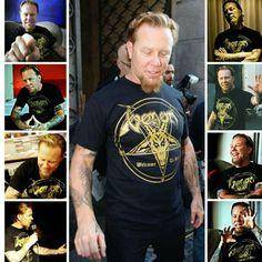 James wearing a Venom t-shirt
