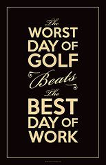 Sports Art - Golf Day Quote  by Mark Brown #golf #art