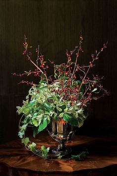 Sculptural and Organic Flower Arrangement