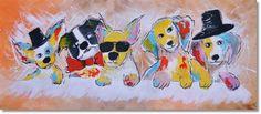 Schilderij Dogs Gone Wild van Aleksandra - Kunstvoorjou. Image Categories, Fox Cookies, Pumpkin Spice Cupcakes, Bear Cakes, Woodland Party, Holiday Cocktails, Cakes And More, Disney Characters, Dogs