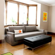 Gus* Modern Flip Sofabed, flips into a queen size futon bed. May not be the most comfortable but great looking sofa