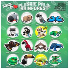 Intrigue Co. - Plushie Pals: Rainforest Edition: The Arcade Gacha Events June 2014 | Flickr - Photo Sharing!