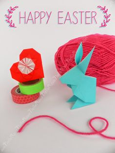 Happy easter - Origami bunny - Buona Pasqua! #origami #bunny #easter