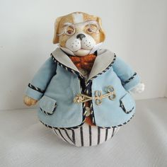 Louis Nichole Dog with Wire rim glasses by BlueBarnCollectibles