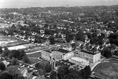 Aerial view looking north; Lakewood High School Lakewood Ohio, Aerial View, Cleveland, Paris Skyline, Dolores Park, High School, Places To Visit, Childhood, United States