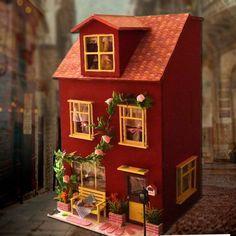 Casa decoração artesanato casa de bonecas DIY grande casa de bonecas de madeira 3D Model Kit miniatura dollhouse móveis para sala levou luz 130   05 em Casinhas de boneca de Brinquedos & Lazer no AliExpress.com   Alibaba Group