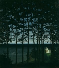 Harald Sohlberg  Norwegian, 1869-1935, Fisherman's Cottage