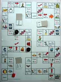 consonant digraph board game and game cards