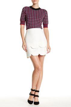 Scalloped Tier Mini Skirt by English Factory on @HauteLook